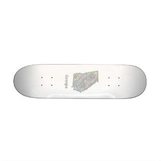Georgia map skate board deck