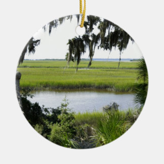 Georgia Marshland Ceramic Ornament