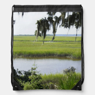 Georgia Marshland Drawstring Bag