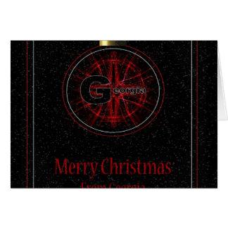 Georgia Merry Christmas Card