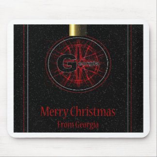 Georgia Merry Christmas Mouse Pad