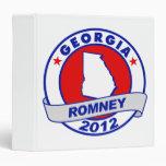 Georgia Mitt Romney Vinyl Binders