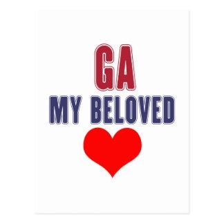 Georgia my beloved postcard