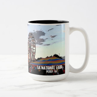 Georgia National Fair, Perry GA Two-Tone Coffee Mug