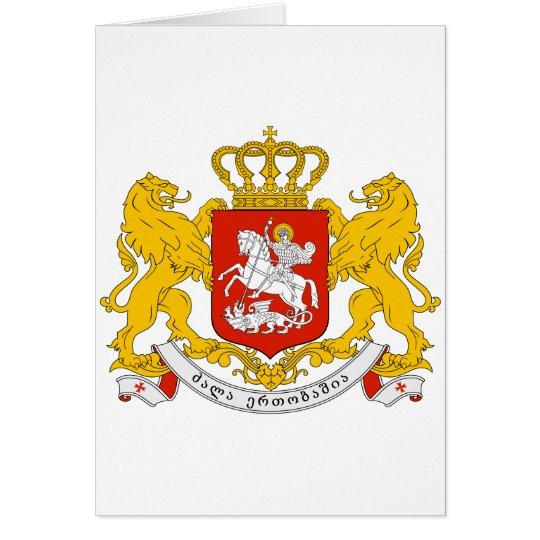 Georgia Official Coat Of Arms Heraldry Symbol Card