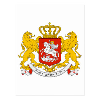 Georgia Official Coat Of Arms Heraldry Symbol Postcards