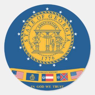 Georgia  Official State Flag Classic Round Sticker