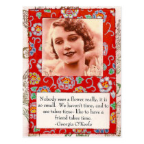 Georgia O'Keefe Friendship Quote Collage Postcard
