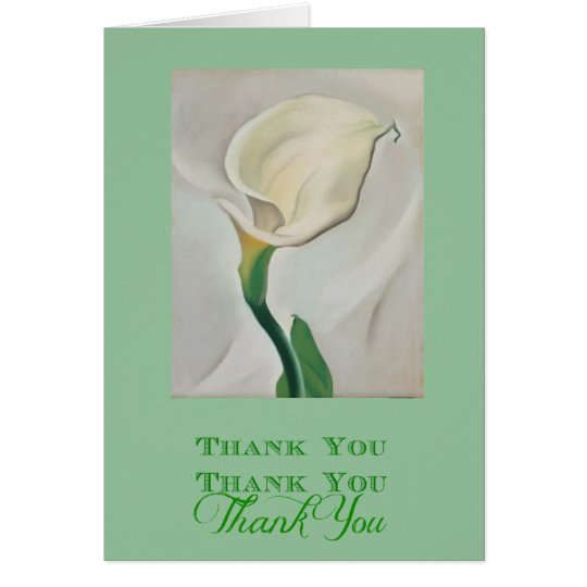 Georgia okeeffe white cala lily thank you card zazzle georgia okeeffe white cala lily thank you card mightylinksfo