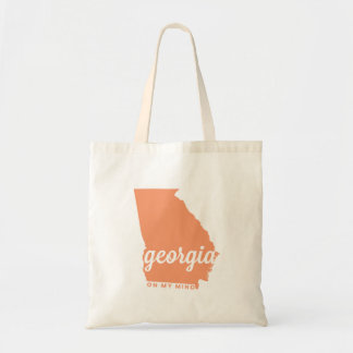 georgia | on my mind | peach tote bag