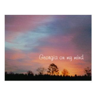 Georgia on my mind postcard