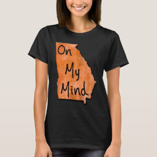 Georgia On My Mind Typographical Map T-Shirt