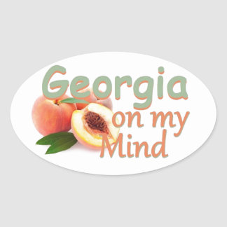GEORGIA OVAL STICKER