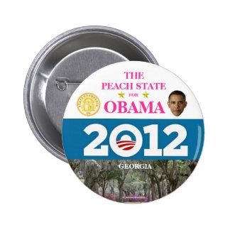 GEORGIA para el botón político del pinback de Obam Pin Redondo De 2 Pulgadas