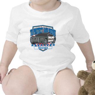 Georgia para proteger y para servir el coche polic traje de bebé
