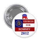 Georgia para Romney 2012 Pins