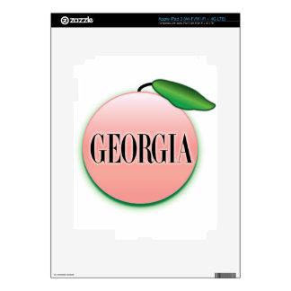 Georgia Peach Airbrush Decals For iPad 3