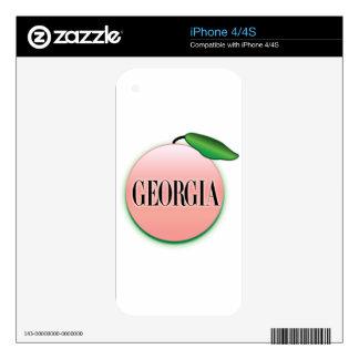 Georgia Peach Airbrush Skin For The iPhone 4