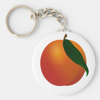 Georgia Peach / Apricot Fruit Keychain