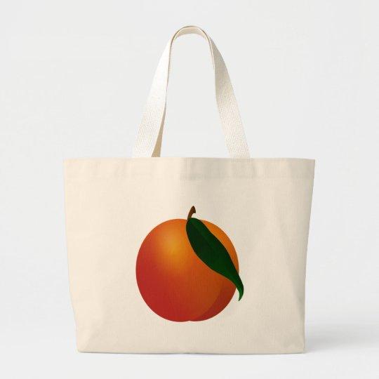 Georgia Peach / Apricot Large Tote Bag