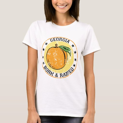 Georgia peach born raised.png T-Shirt