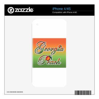 Georgia Peach - Cursive Decals For iPhone 4S