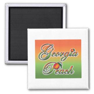 Georgia Peach - Cursive Magnet