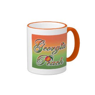 Georgia Peach - Cursive Ringer Mug