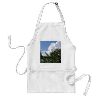 Georgia Peach Tree Fluffy White Clouds Adult Apron