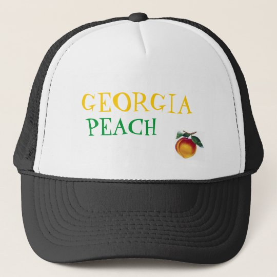 GEORGIA, PEACH TRUCKER HAT
