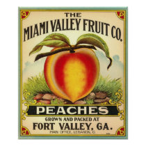 Georgia Peaches Crate Label