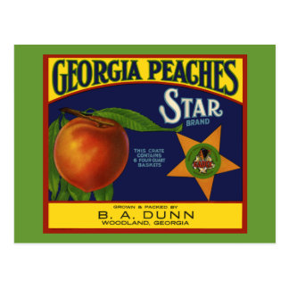 Georgia Peaches Postcards