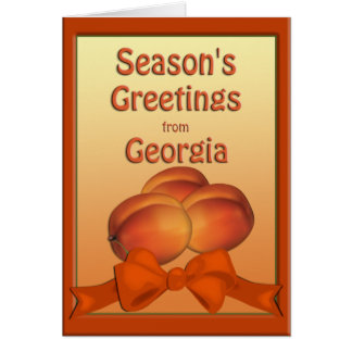 Georgia Peaches Season's Greetings Card