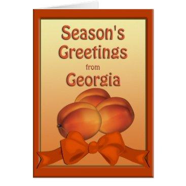 Christmas Themed Georgia Peaches Season's Greetings Card