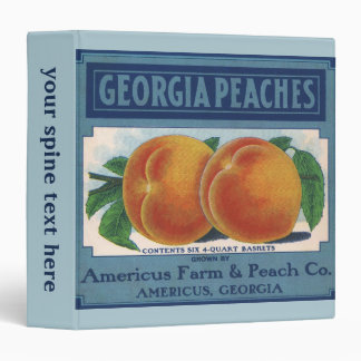 Georgia Peaches, Vintage Fruit Crate Label Art Binders