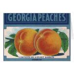 Georgia Peaches, Vintage Fruit Crate Label Art Greeting Cards