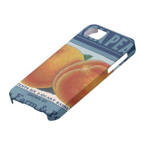 Georgia Peaches, Vintage Fruit Crate Label Art iPhone 5 Case