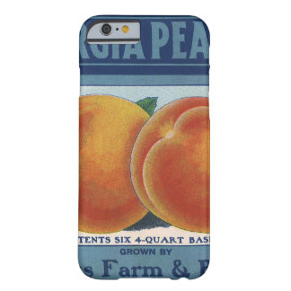 Georgia Peaches, Vintage Fruit Crate Label Art Barely There iPhone 6 Case