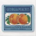 Georgia Peaches, Vintage Fruit Crate Label Art Mouse Pads