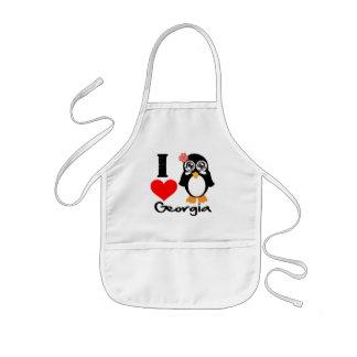 Georgia Penguin - I Love Georgia Kids' Apron