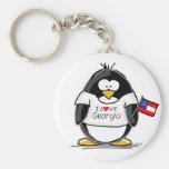 Georgia Penguin Keychains