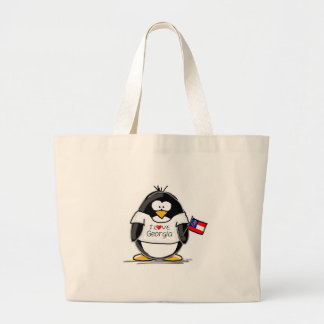 Georgia Penguin Large Tote Bag