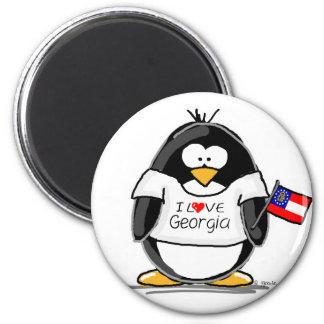 Georgia Penguin Refrigerator Magnet