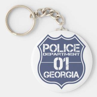 Georgia Police Department Shield 01 Keychain