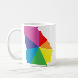 georgia pride. angled. coffee mug