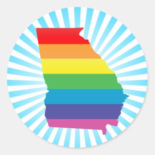 georgia pride. stickers