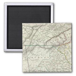 Georgia, pts of NC, SC, Tenn, Ala, Florida 2 Inch Square Magnet