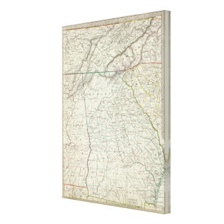 Georgia, pts of NC, SC, Tenn, Ala, Florida Canvas Print