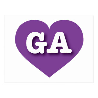 Georgia Purple Heart - Big Love Postcard