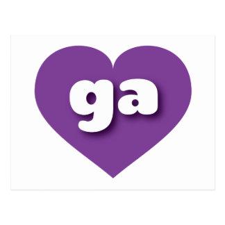georgia purple heart - mini love postcard